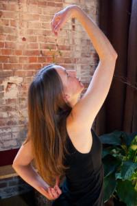 Sarah Horn in qigong pose